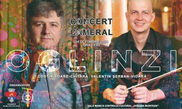 Un chitarist și un violonist de renume susțin un concert în oglindă, la Deva